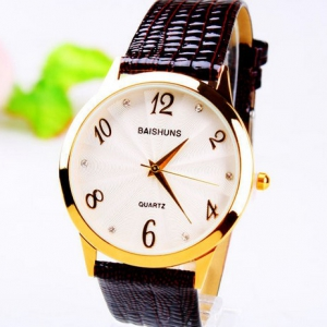 Fashion Casual Leather Strap Men's Watch