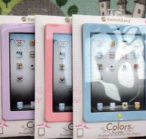 ipad 2/ 3 /4  Silicone candy-coloured casing