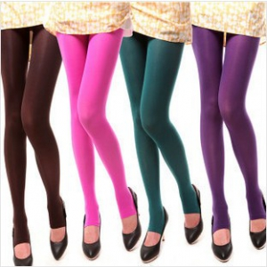 120D Candy-coloured velvet pantyhose stockings