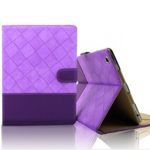 Ipad 4 / 2/3/ quilted leather flip casing