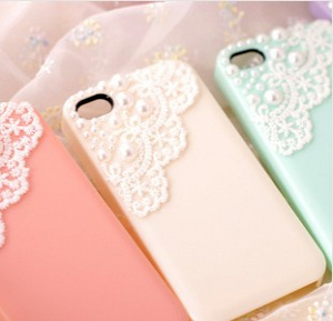 Iphone 5 / 5S  lace diamond drill phone casing