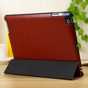 ipad2 /3/ 4      leather slim folding stand Casing