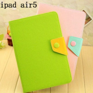 ipad air  leather flip cover with button