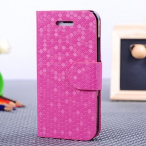Iphone 5 /5S  diamond pattern leather flip cover