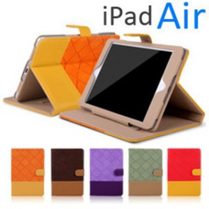 ipad air   color leather flip cover (Random design)