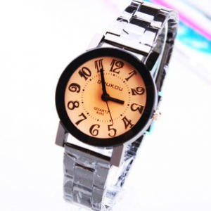 161712 Casual steel watch