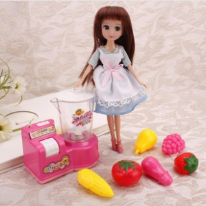 9inch doll with electric blender for kids