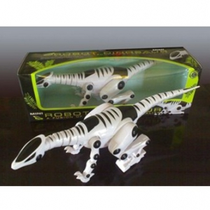 Power walking dinosaur toy model simulation with light and animal sounds