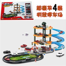 4 storeys Multi car park simulation toy set