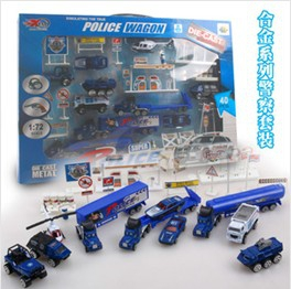 Super police constable vehicle toy set