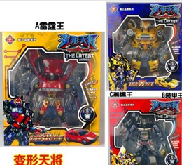 Transformer deformation car Thunder King / Armor King / King bombers blast