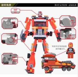 2-in-1 building blocks assembled deformation robot / car / tank / plane / hand flames / Storm Models