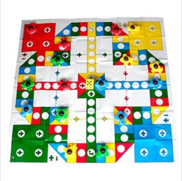Jumbo aircraft chess play mat