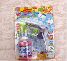 Bubble gun with musical and lights