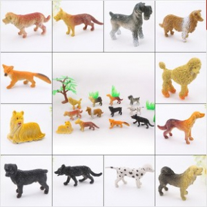 12pc 2inch Pet dogs model toys