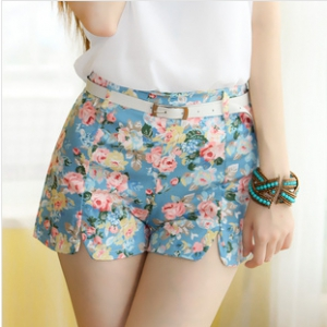 Assorted flower design shorts