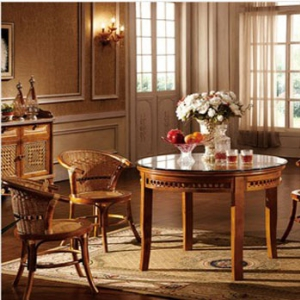 hand-woven ratten table + 4 chairs