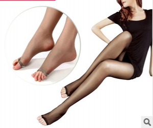 Open toe stockings pantyhose