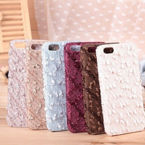 iPhone 5/ 5S snowflake plush phone casing