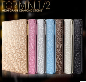 ipad mini diamond pattern leather flip cover