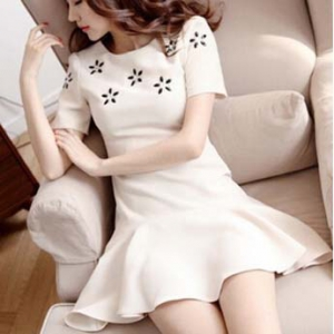 Special offer-Defective Elegant Short Sleeved Dress
