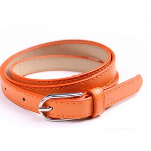 Candy-coloured PU leather fashion belt