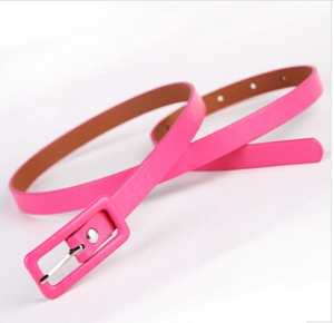 Candy-coloured leather fashion belt