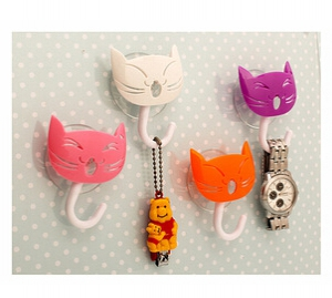 2 pc Kitty Design Decorative Wall Hooks set
