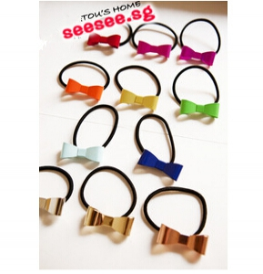 G69 Candy-Coloured Ribbon Hair Bands