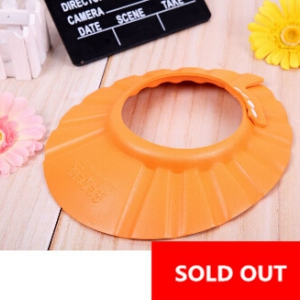 Adjustable Baby shampoo hat Orange colour
