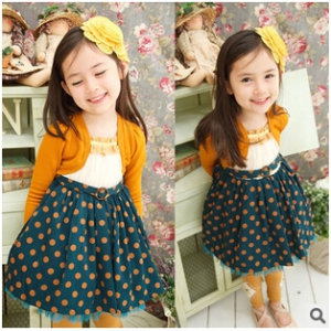 Lovely dots dress set