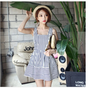 Sleeveness dress J517