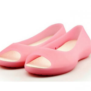 Special offer-Defective Jelly open-toe flats