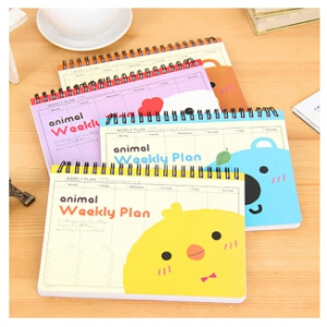 Cartoon notebook random design