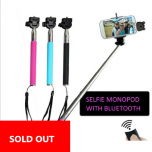 Selfie Monopod & Bluetooth Shutter & phone holder set