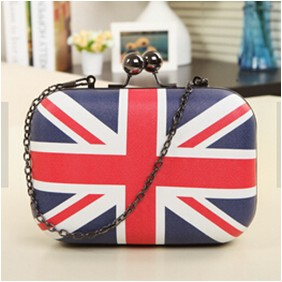 Mini British flag Clutch shoulder bag