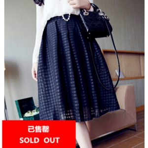 Plaid chiffon skirt