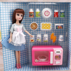 Kitchen playset with doll