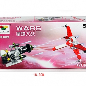 Stars wars assembled model airplane and space soldier