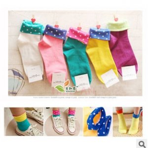 candy-coloured cotton dots socks