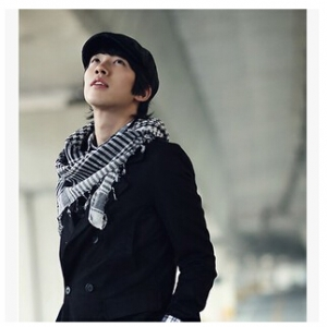 classic black and white color Casual Male scarf