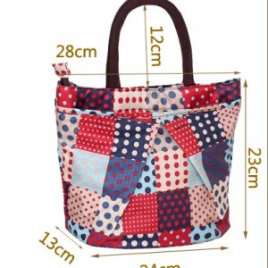 Colourful lunch bag / mini handbag