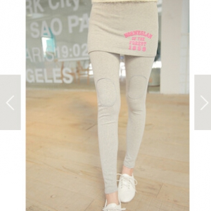 D-911 Knee patched leggings with skirt