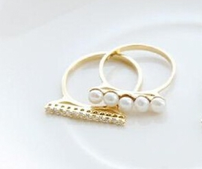 C296 Stylish Rings 3pc/2pc