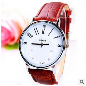 165347  Simple design Leather watch