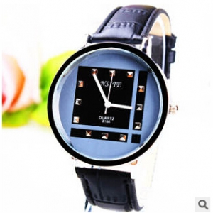 165355 Trendy simple design leather watch