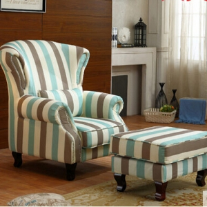 Fabric Armchair & footstool