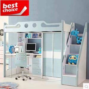 Loft bed frame+wardrobe+desk+chair  1000*1900MM