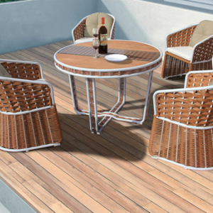 preorder-Rattan  table & four chairs