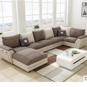 Preorder-Fabric  five seat sofa +chaise longue